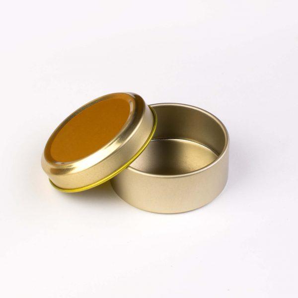 قوطی فلزی طلایی