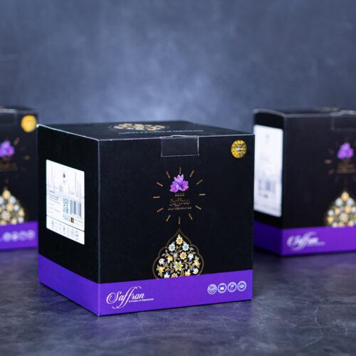 طراحی بسته بندی جعبه ای زعفران فله