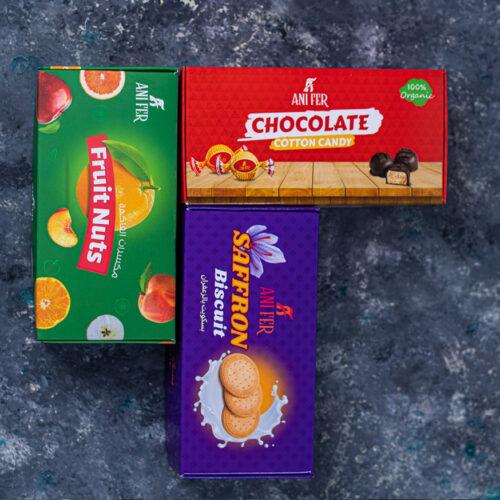 طراحی بسته بندی شکلات ، بیسکوییت